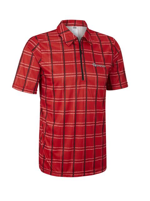 Gonso Pax Fietsshirt korte mouwen Heren rood
